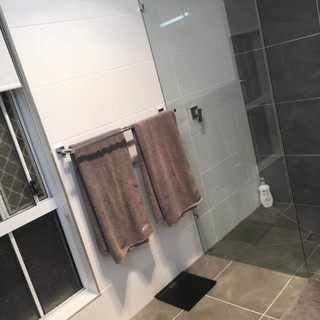 Shower sealed, durable, fixed & looks great