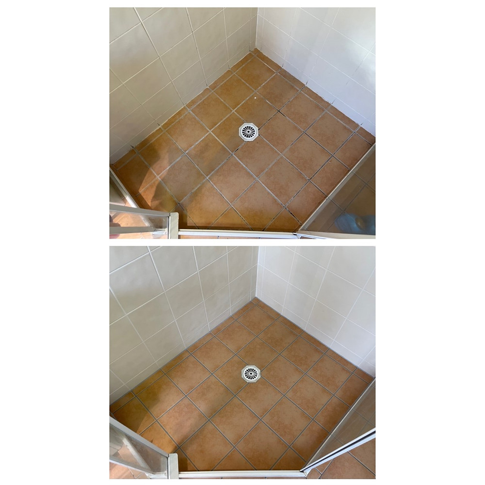cracked grout replaced