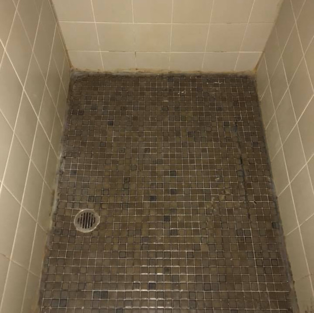 before shower sealing