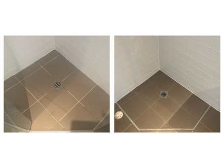 Before and after shower sealing