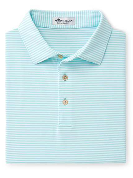Peter Millar Fancy Polo (color - green striped)