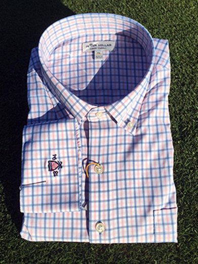 Peter Millar Button Down (color - LAKEB)