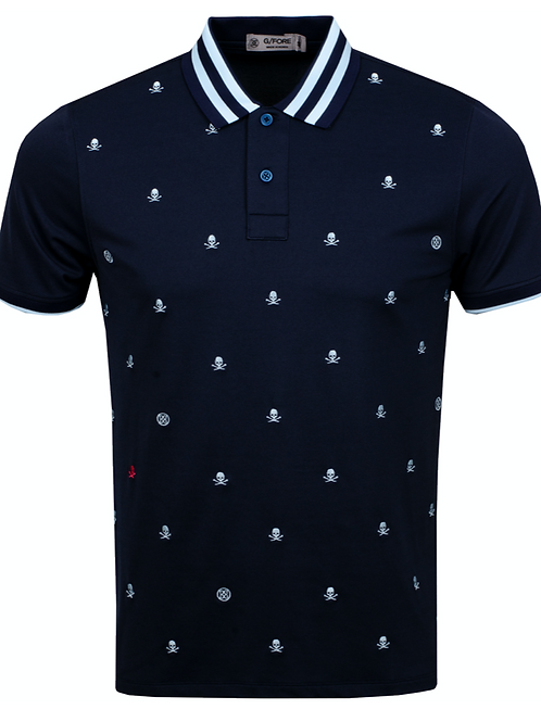 Skull & T's Embroidered Polo Twilight
