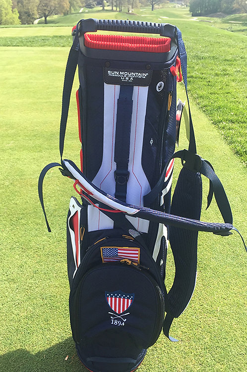 SUN MOUNTAIN 3.5LS BAG STAND/CARRY BAGS - NAVY-WHITE-RED