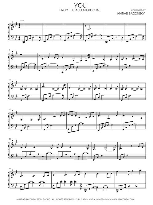 You (Sheet Music)