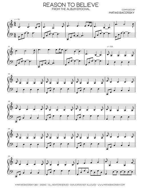 Reason to Believe (Sheet Music)