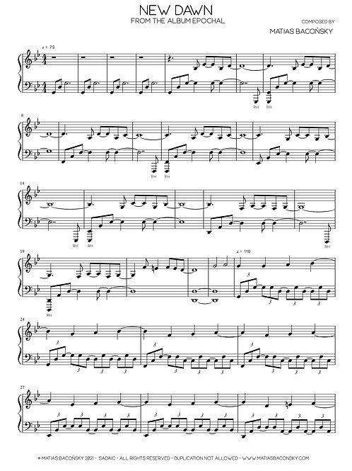 New Dawn (Sheet Music)