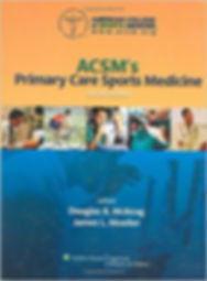 ACSMs Primary Care Sports Medicine book cover quoted on focal compression to reduce recovery time