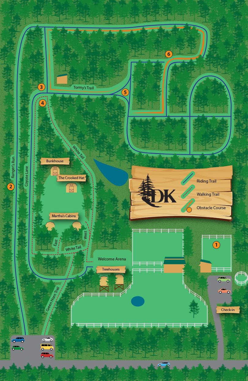 D&K Ranch Map