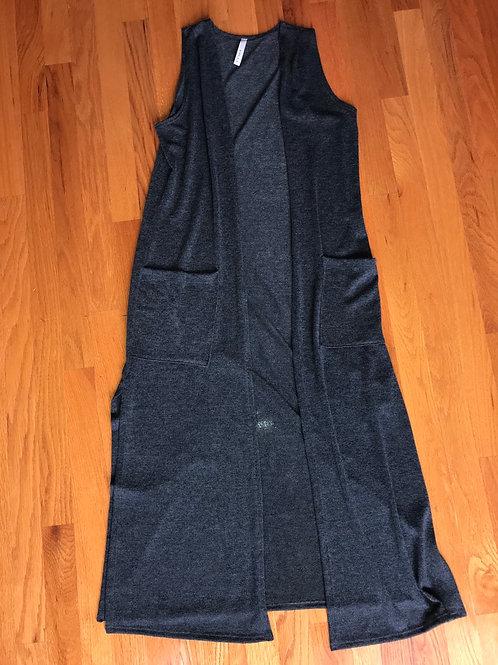 Gilli grey sleeveless cardigan/duster - TC11