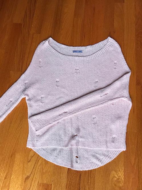 Dex distressed pink sweater- TC31