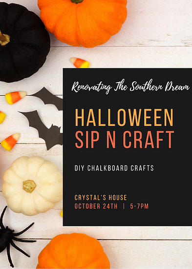 Halloween Sip n Craft