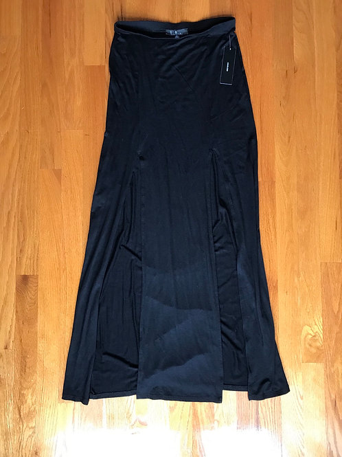Lulus black skirt with slits - TC12