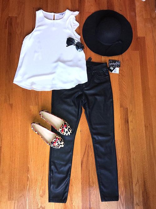 Brigitte faux leather pants TC19
