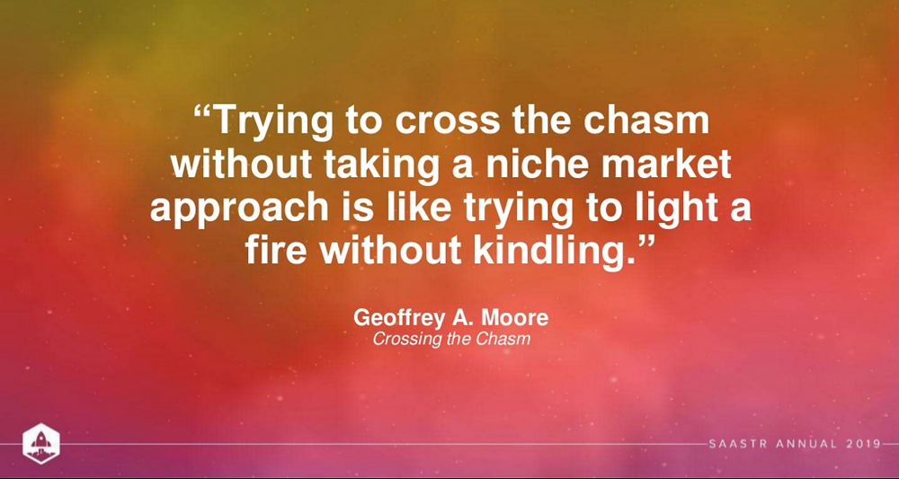credit: Kate Hopkins - 'Less is more: how to make your funding go further with market focus', niche market quote