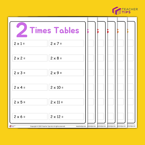 Times Tables Booklet