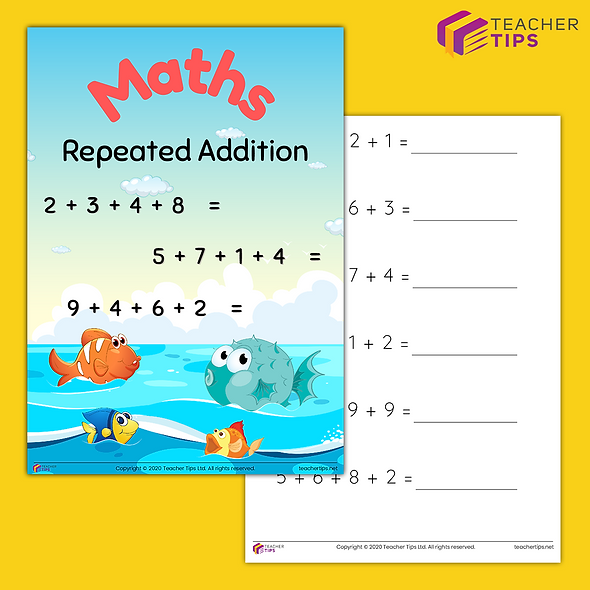 Single Digit Repeated Addition - Booklet #1