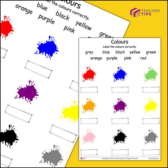 Colours Worksheet #2