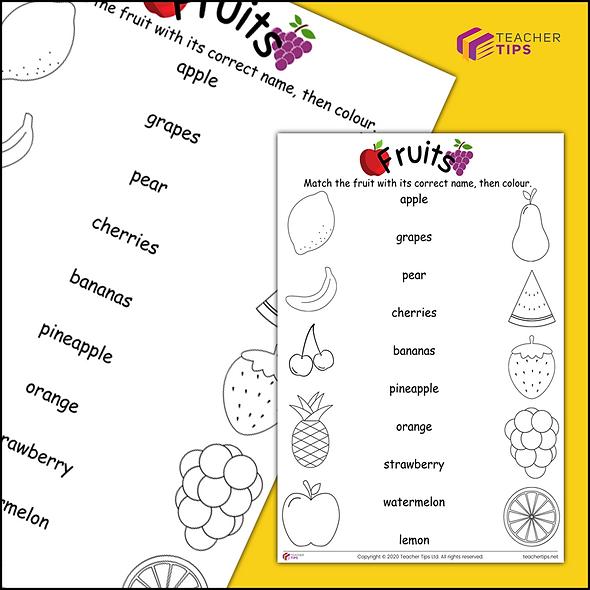 Fruits - Worksheet #1