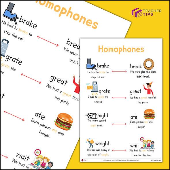 Homophones Poster - #3