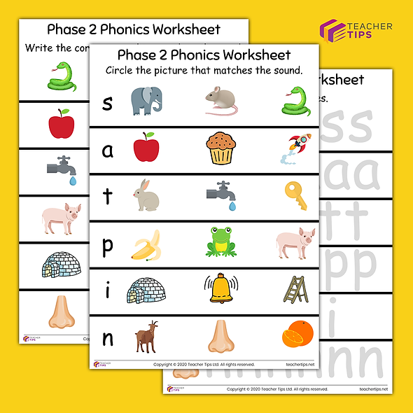 Phase 2 Phonics Activity Sheets #1
