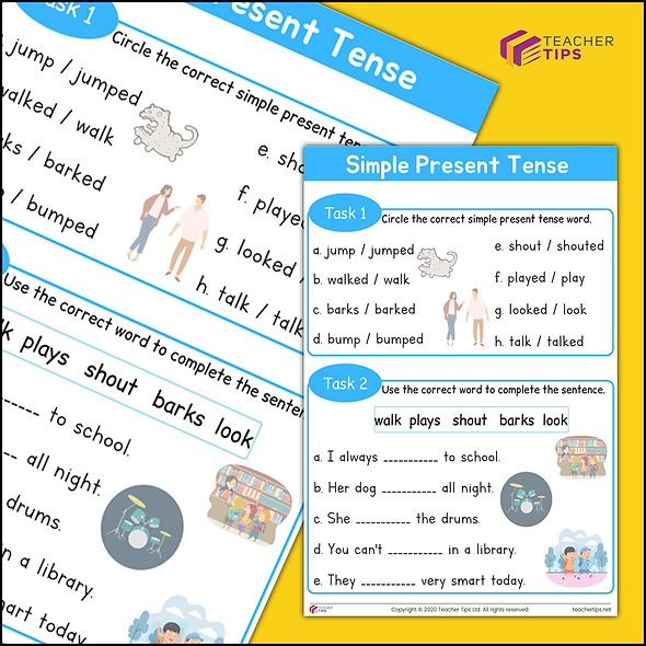Simple Present Tense - Worksheet #1