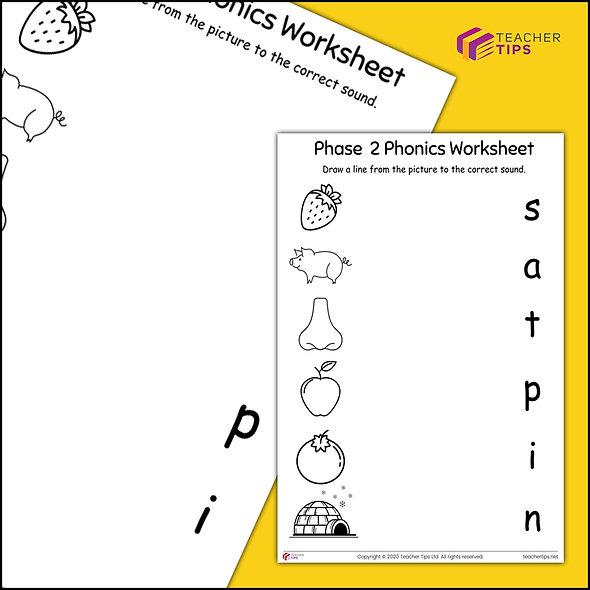 Phase 2 Phonics Worksheet #5