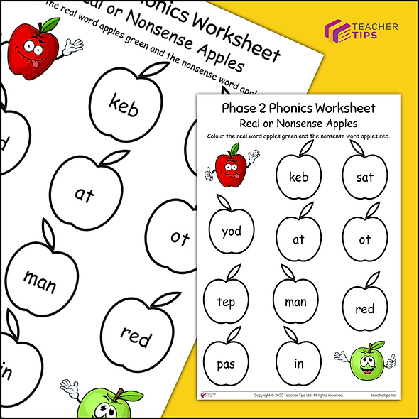 Phase 2 Phonics Worksheet #8