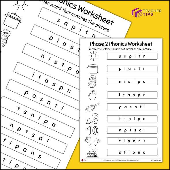 Phase 2 Phonics Worksheet #3