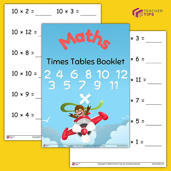 Times Tables - Booklet #1