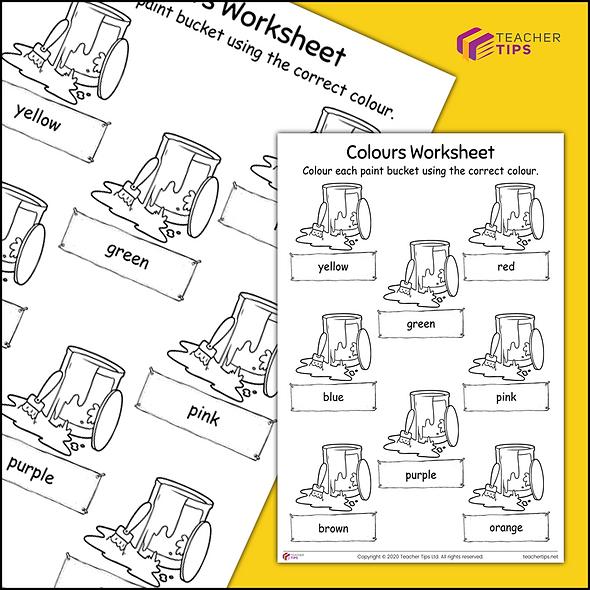 Colours Worksheet #1