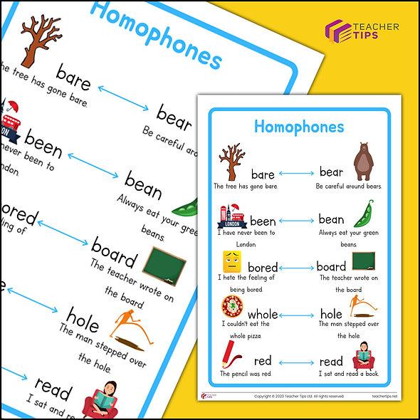 Homophones Poster - #2