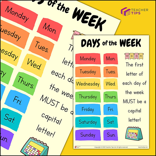 Days of the Week - Poster