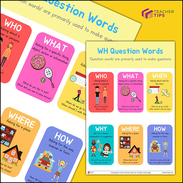 WH Question Words - Poster