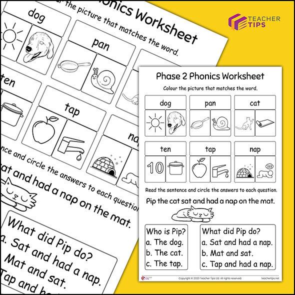 Phase 2 Phonics Worksheet #2