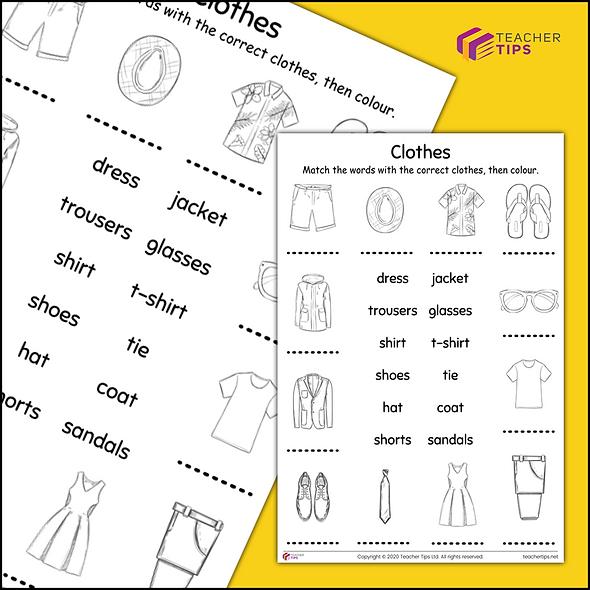 Clothes - Worksheet #1