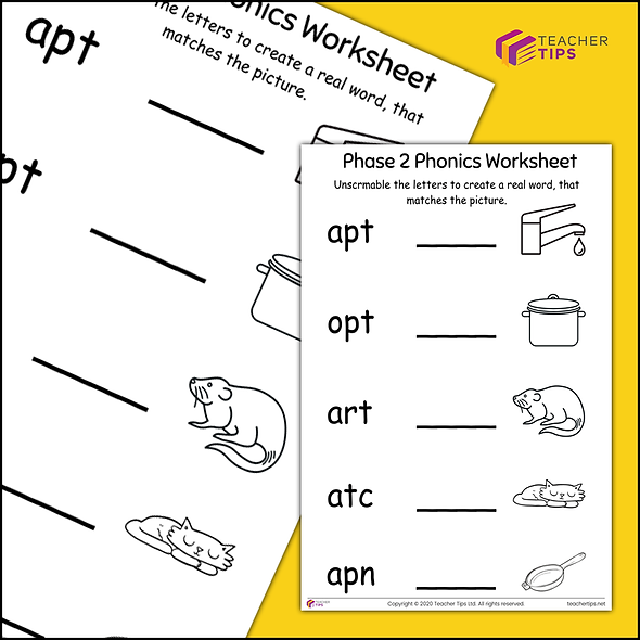 Phase 2 Phonics Worksheet #6