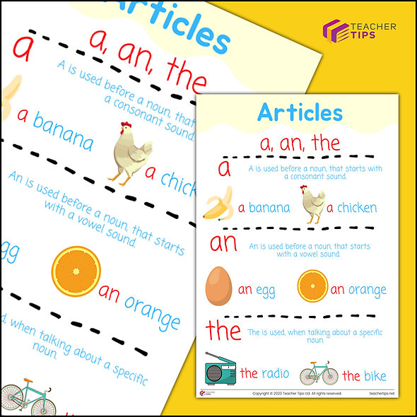 Articles - a, an, the - Poster