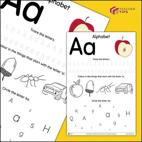 Alphabet - Aa - Worksheet #1