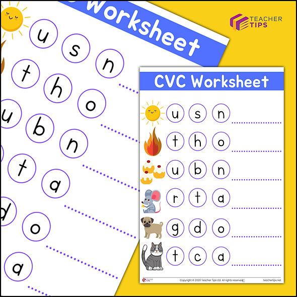 CVC Worksheet #2