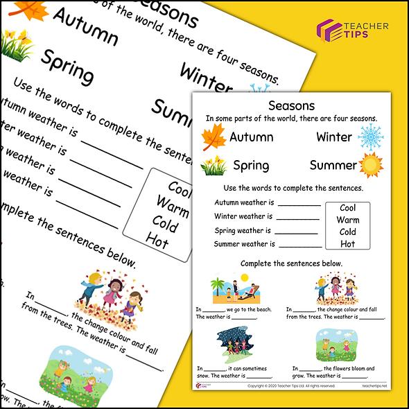 Seasons - Worksheet #1