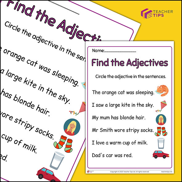 Find the Adjective - Worksheet