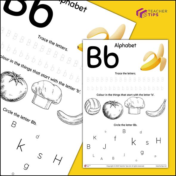 Alphabet - Bb - Worksheet #1