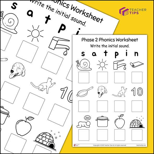 Phase 2 Phonics Worksheet #1