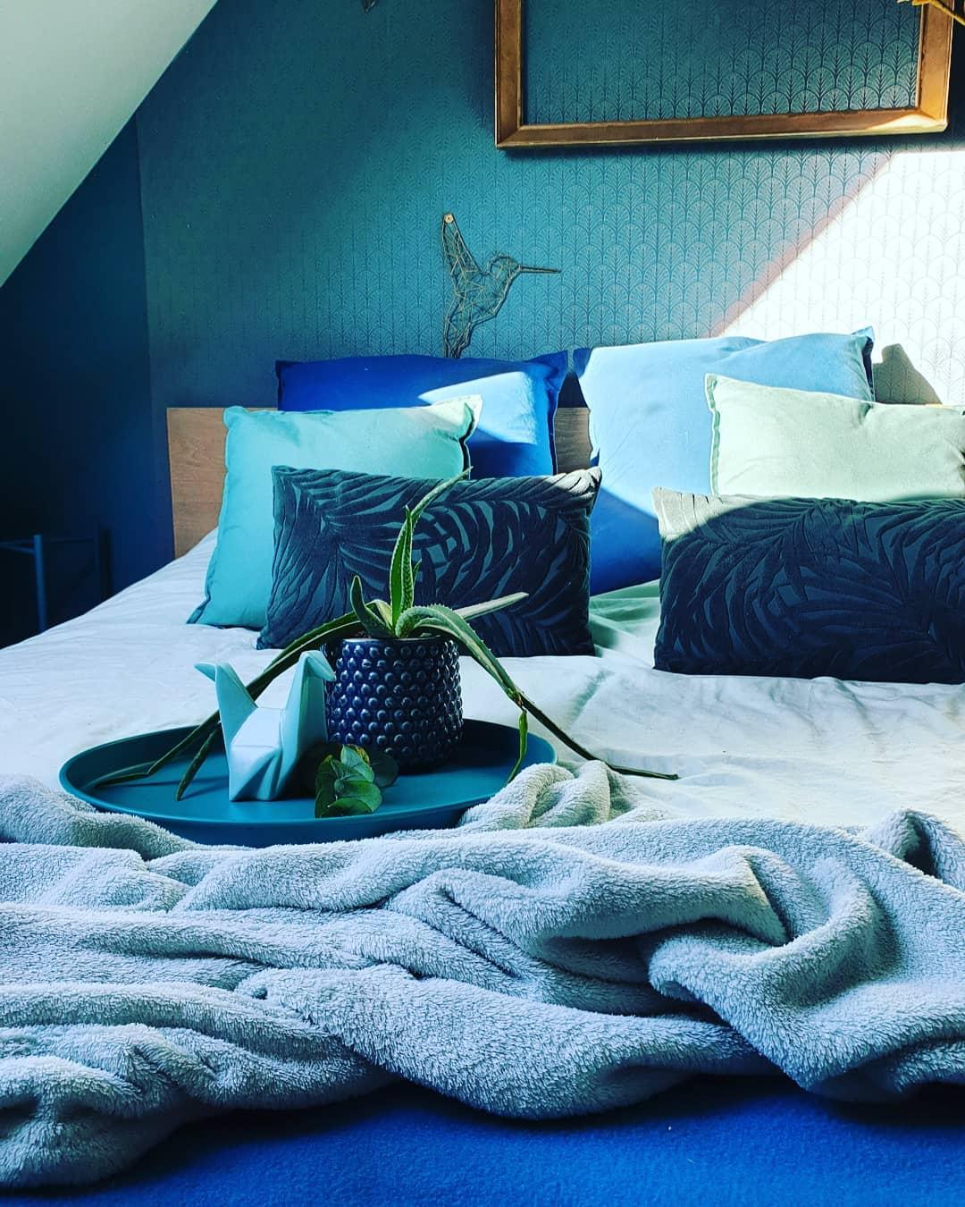 chambre bleu