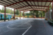 Covered Basketball Court at Campground