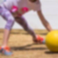 Kid Playing Gaga Ball Game