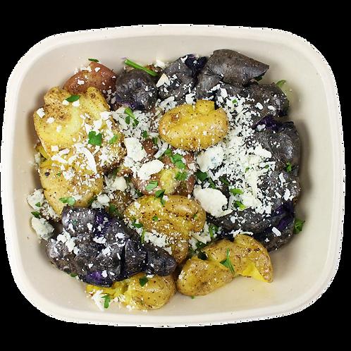 Smashed potatoes met gorgonzola 375