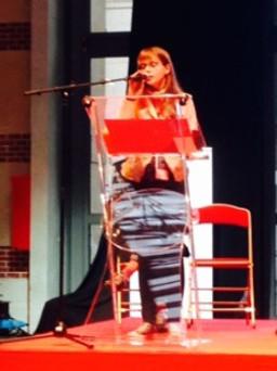 Florine Piette, membre du Comité jeunes de l'Anacej, restitue les travaux ©Anacej