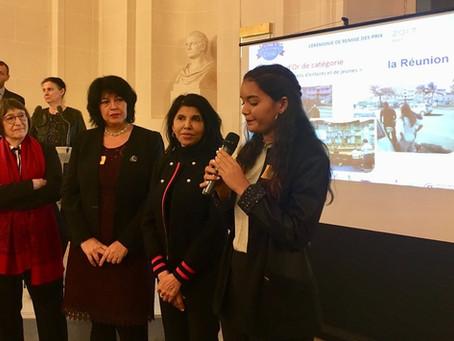 Le Conseil Départemental des Jeunes de la Réunion, lauréat des Écharpes d'Or 2017
